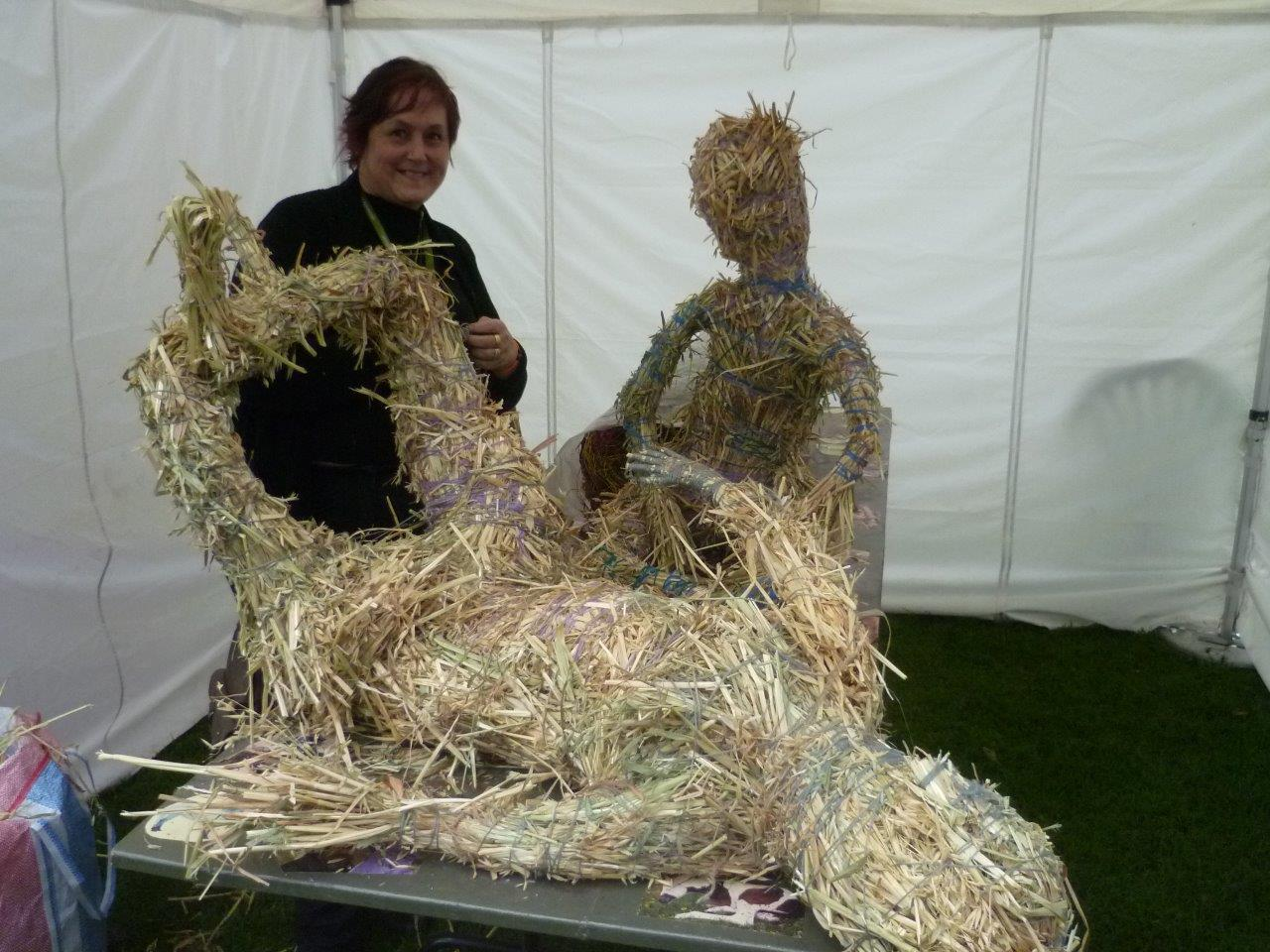Bronwyn with grass figures